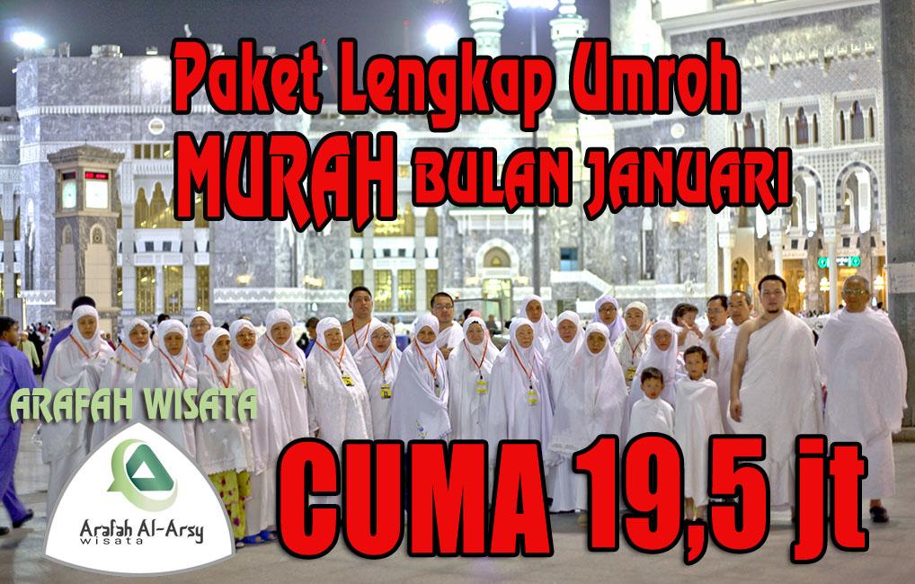 Promo Paket Umroh Januari 2018 Harga Cuma 19,5 Jt Murah
