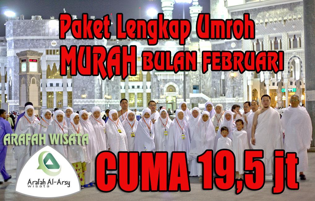 Promo Paket Umroh Februari 2018 Harga Cuma 19,5 Jt Murah